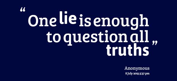 Kata Kata Mutiara Tentang Kebohongan
