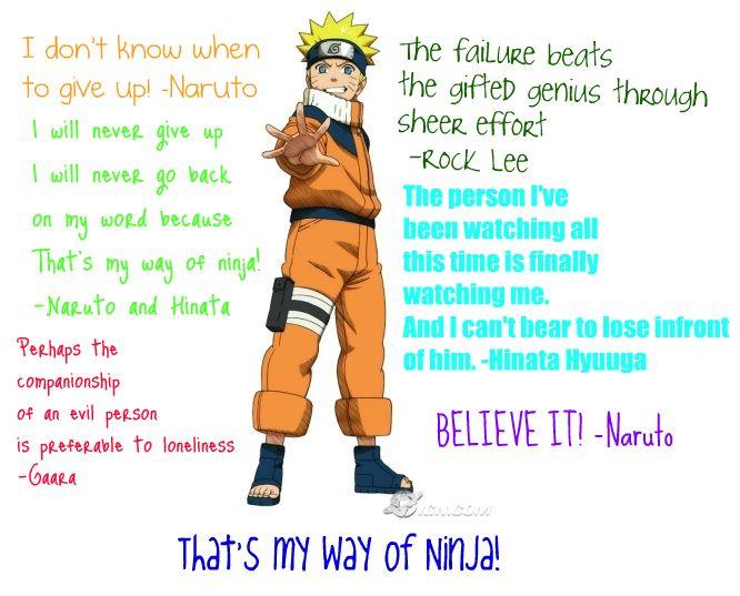 Kata Mutiara dari Uzumaki Naruto Ninja Konoha