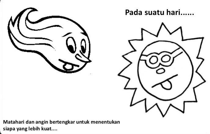 matahari dan angin utara bertengkar siapa yang lebih kuat