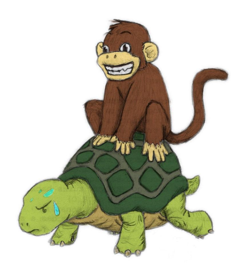 Cerita Rakyat Fabel Kera Licik dan Seekor Kura - kura