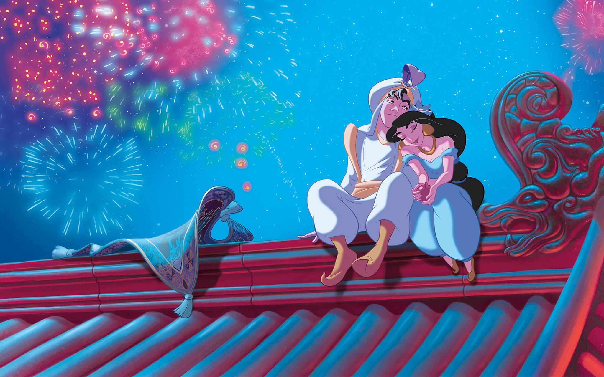 Aladin dan Putri Jasmin Saling Jatuh Cinta