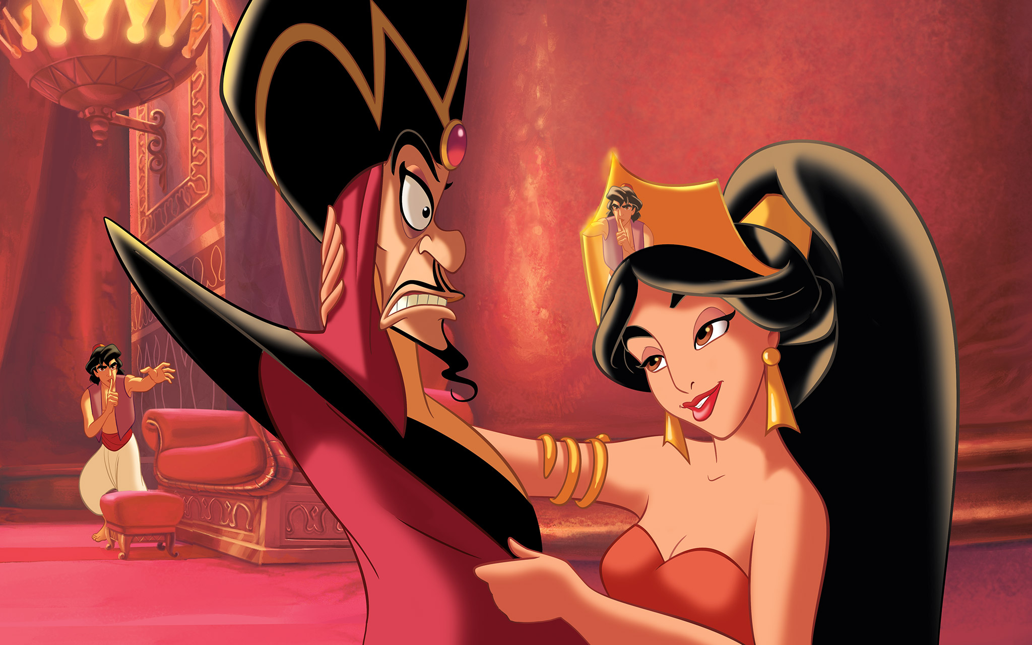 Aladin Masuk ke Istana Mencoba menolong Putri Jasmine