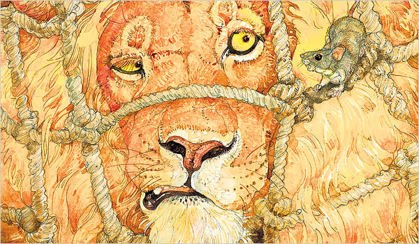 Fabel Cerita Dongeng Singa dan Tikus baik