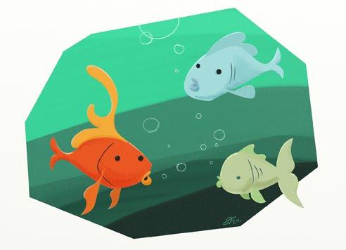 Cerita Motivasi Hewan Dongeng Tiga Ikan