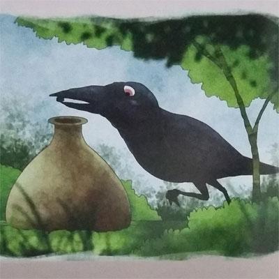 Cerpen Binatang Dongeng Burung Gagak Dan Kendi Air