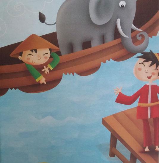 Cerita Rakyat Cina : Cara Menimbang Seekor Gajah