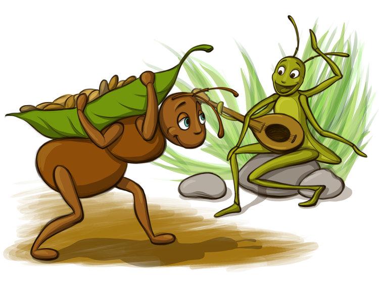Dongeng Anak Dunia Kisah Semut Dan Belalang
