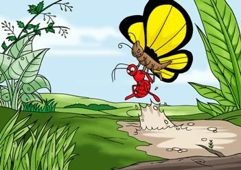 Cerita Dongeng Binatang Semut Merah yang Sombong