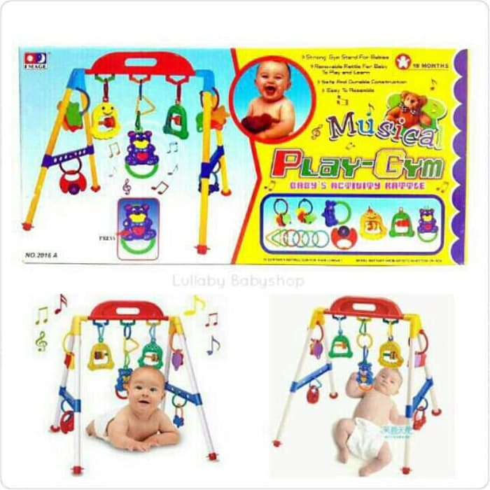 mainan untuk bayi gym dengan musik
