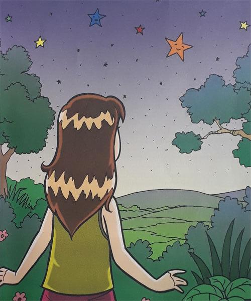 Naskah Dongeng Kepingan Emas dari Bintang di Langit