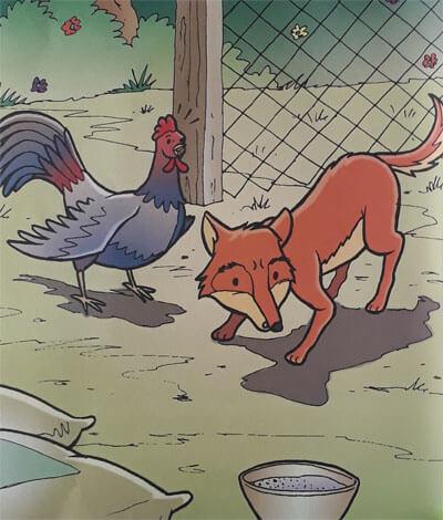 Cerita Anak dengan Gambar Ayam Jantan yang Cerdik