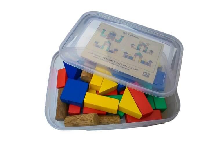 Mainan Anak Balok Kayu