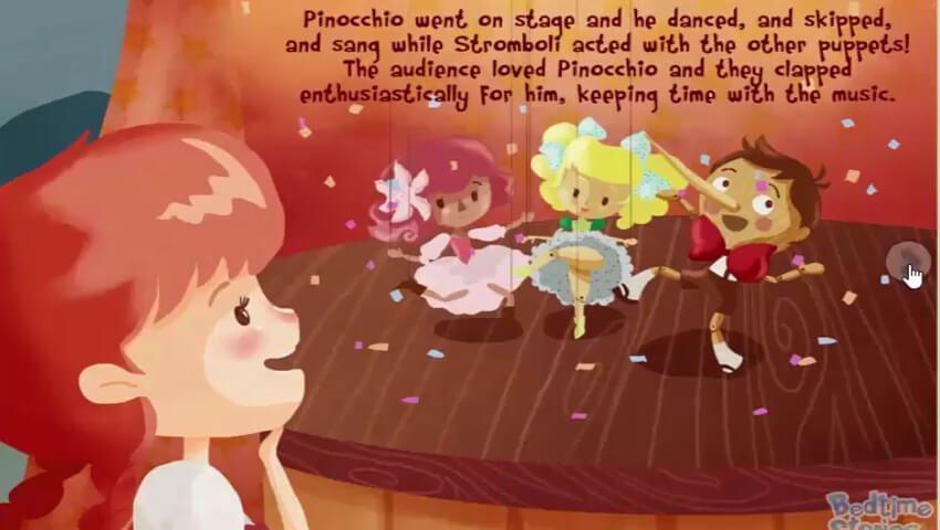 Pinokio menjadi boneka pertunjukan