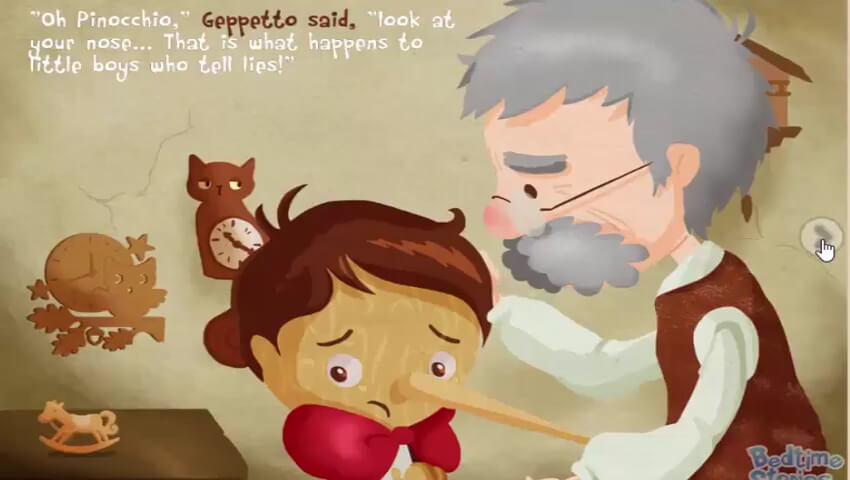 Pinokio berbohong