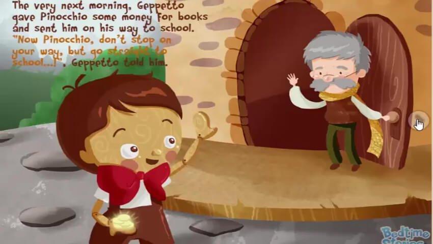 Pinokio Pergi ke Sekolah