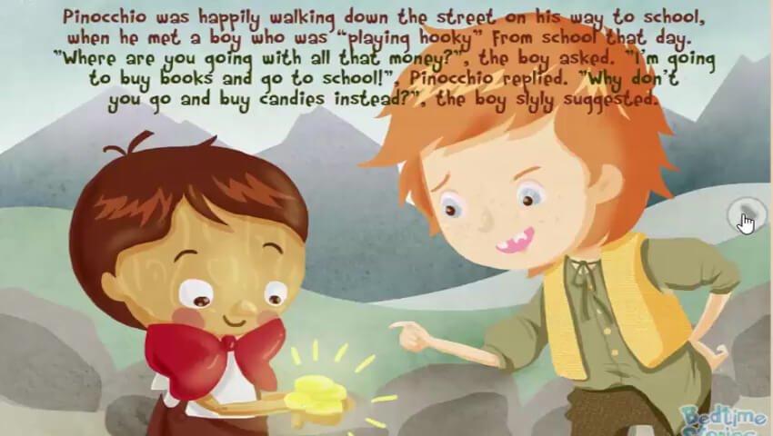 Pinokio bertemu anak laki-laki