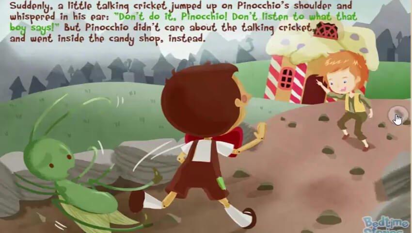 Pinokio diingatkan belalang ajaib