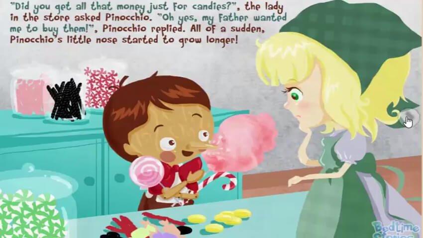 Pinokio membeli permen