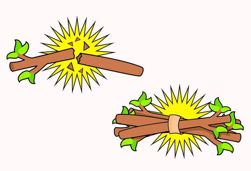 seikat batang kayu