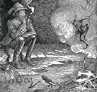The Blue Light Cahaya Biru Dongeng Jerman Karya Brothers Grimm