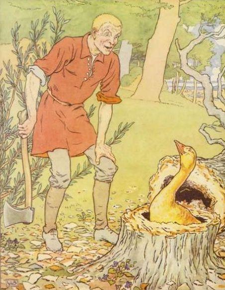Cerita Rakyat Jerman Brothers Grimm Kisah Simpleton dan Angsa Emas