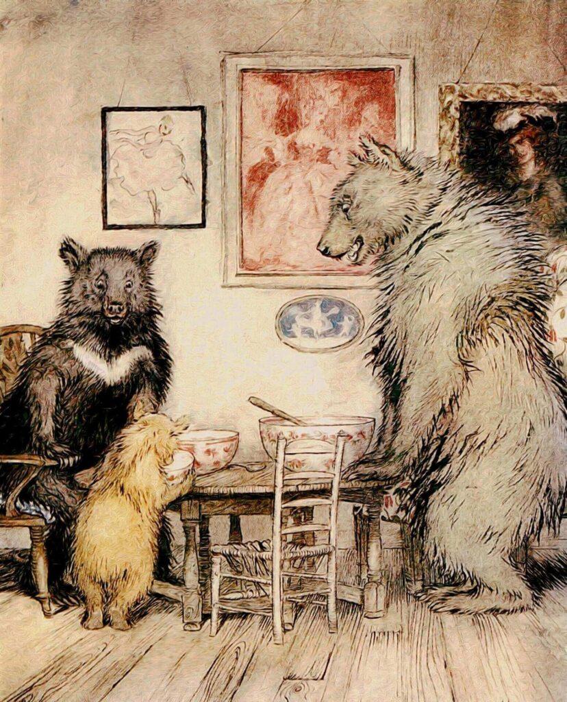 Kisah Goldilocks dan Tiga Beruang Cerita Pendek Dongeng Inggris Populer