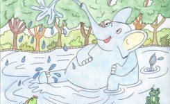 Cerita Anak Pendek Gajah dan Para Kodok