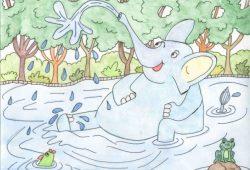 Cerita Anak Pendek : Gajah dan Para Kodok