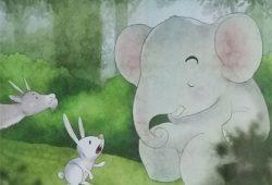 Cerita Fabel Binatang : Dongeng Kelinci Penolong dan Gajah