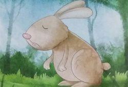 Cerita Tentang Binatang : Si Kelinci Yang Memiliki Telinga Biru Tua
