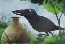 Cerpen Binatang : Dongeng Burung Gagak dan Kendi Air