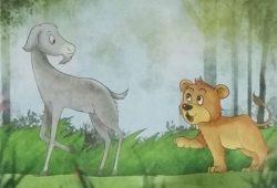 Cerpen Hewan – Dongeng Fabel Nusantara : Singa Mengira Dirinya Kambing