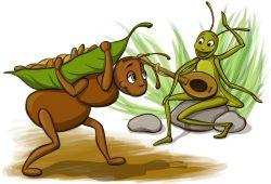 Dongeng Anak Dunia : Kisah Semut dan Belalang
