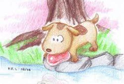 Dongeng Cerita Anak Anak Pendek Anjing Kecil dan Bayangan