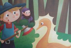 Dongeng Cerita Anak Jerman : Simpleton dan Angsa Emas