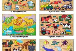 Mainan Anak Edukatif Kayu Puzzle Hewan dan Huruf untuk Anak Cerdas
