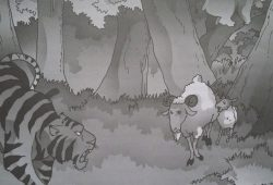 Cerita Fabel Kambing, Beruang dan Harimau