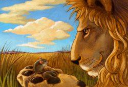 Fabel : Kisah Persahabatan Singa dan Tikus